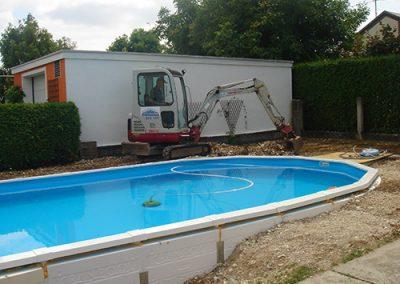 Baggerungen Pool